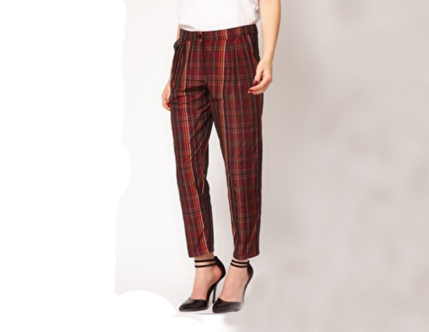 Peg Pants: These trousers put those uniform looks to shame and give the tartan style a chic update. Asos, $18.47