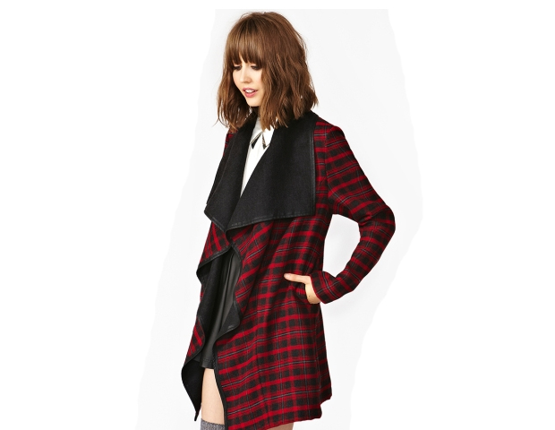 Plaid Drape Jacket: This is an awesome flannel jacket featuring plaid print in a modern drape style. Wear it alone or layer it to add pop to your look. Nasty Gal, $128