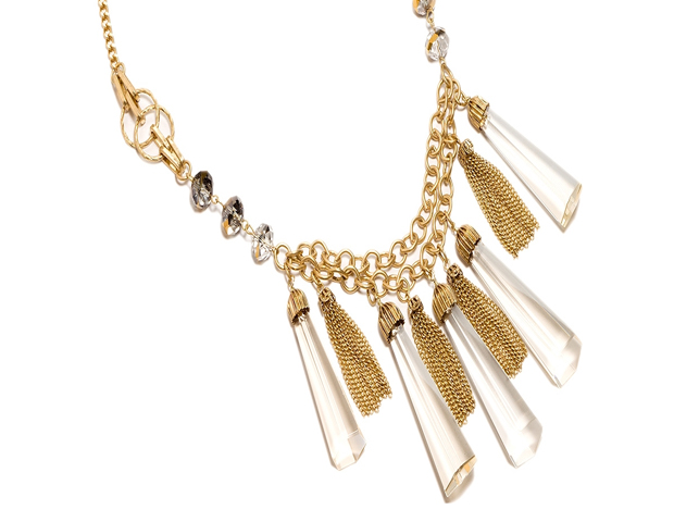 Golden Prism: Make a statement from the beginning of the week into the weekend with this piece that will work well with your dresses or dress up your T-shirt and jeans. The Limited, $24.95