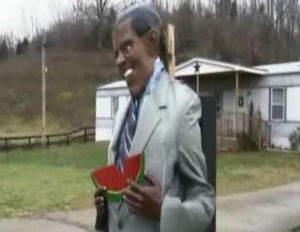 Kentucky Man Erects Watermelon-Eating Obama Effigy