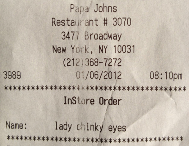 Papa John's had to apologize after an employee typed a racial slur on a receipt to a customer at one of its locations in New York City.