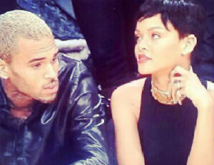 Rihanna and Chris Brown Come out Publicly at Lakers, Knicks Game