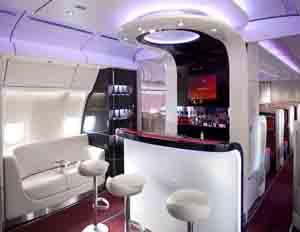 A glimpse into the bar area on an Arik Air flight (Image: Arik Air)