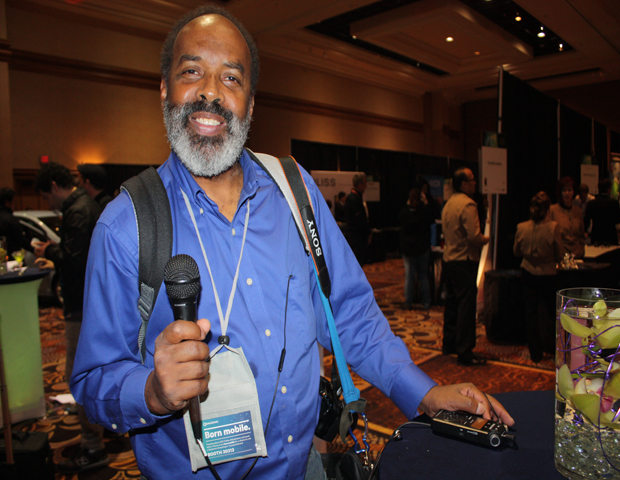 Harrison Chastang is news director at black-owned KPOO San Francisco 89.5 FM, and he's also an expert photojournalist. Harrison is present every year at CES, broadcasting the tech news and trends for his devote radio audience.