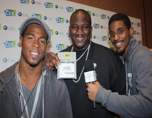Antwand Pearman is founder and CEO of GamerFitNation, a site created to help remind people get off the couch, put down the controller and exercise. He along with a few colleagues came to catch the hottest gaming gadgets and software along with health and fitness tools.