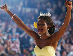 Former Miss America Says her Seat was Moved Because She's Black