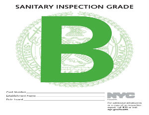NEW YORK HEALTH INSPECTION GRADES RESTAURANTS