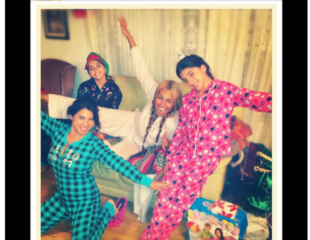 Love & Hip-Hop star, Somaya Reese, celebrates Christmas with her family and a new pair of PJs.