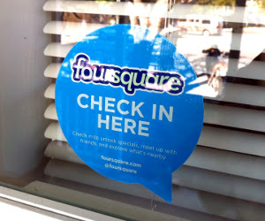 foursquare check in sign