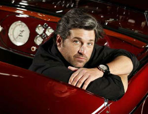 patrick dempsey in a car
