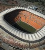 The National Stadium, just outside the township of Soweto in Johannesburg.
