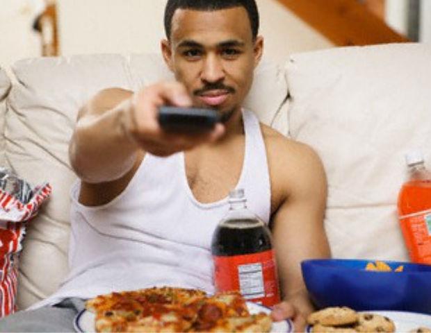 black person on remote control