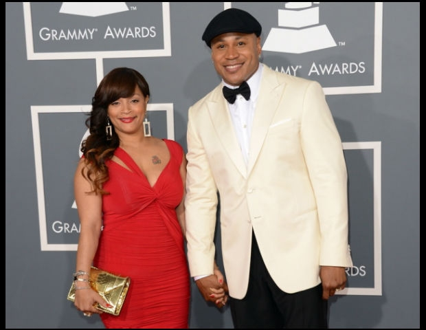 LL Cool J and Simone Johnson at the Grammy's.