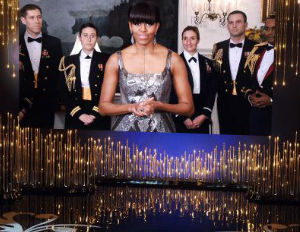 Iranian Press Alters Michelle Obama's Oscars' Gown to Look More Conservative