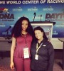 BlackEnterprise.com producer Janell Hazelwood with Alba Colon, NASCAR's first female engineer of color