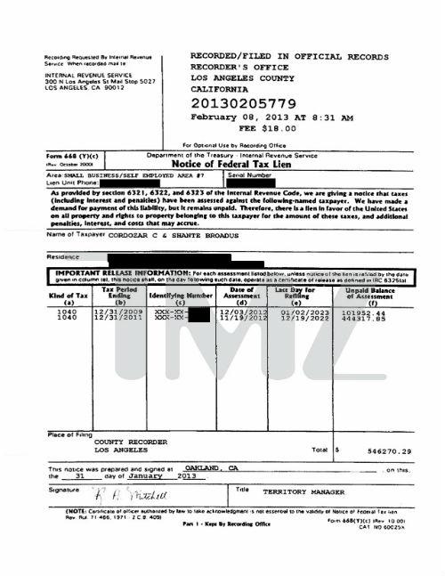 Snoop Dogg - Tax Documents