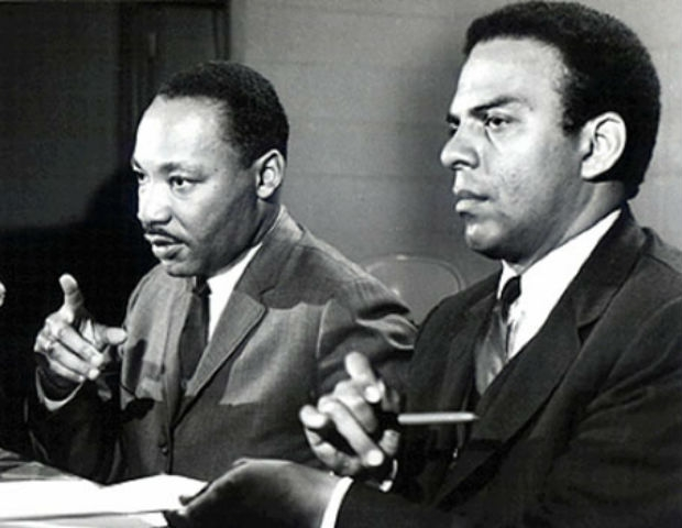 andrew young and mlk talking