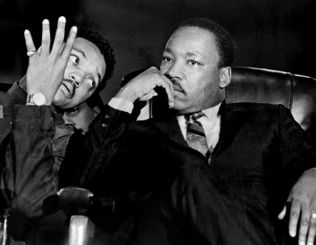 jesse jackson and mlk talking