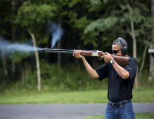 President Obama Fires a Gun in Newly Released Photo