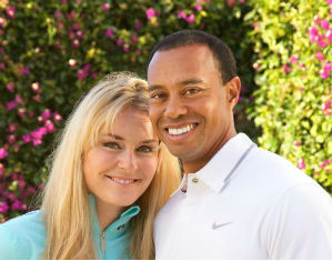 tiger woods and lindsey vonn smiling