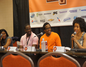 "Panelists talk fitness at ""Food, Faith & Fitness: The Digital Holy Trinity"" at SXSW (Image: Mike Street)"