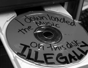 cd music downloaded illegally