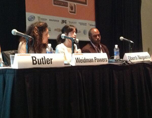 "SXSW panelists on ""Cultivating the New Minority Entrepreneur"" discuss the changing Gen Y minority entrepreneurship paradigm (Image: Mike Street)"