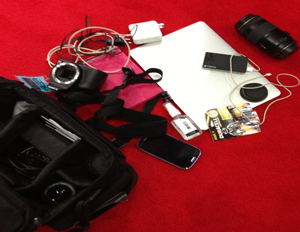Social media maven Mary Pryor displays her go-to gadgets at SXSW (Image: Mary Pryor)