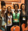 Panelists (l-r) Franchesca Ramsey, Lovette Ajayi, and Allison Peters pose with moderator Kimberly C. Ellis, Ph.D at 'Scandal: How Television's Hottest Show Is Fueled by Social Media' (Image: Mike Street)