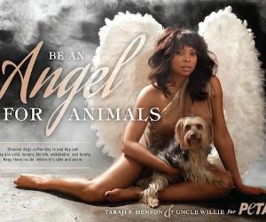 Taraji P. Henson Spreads Her Wings In New PETA Ad