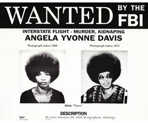 angela davis wanted poster