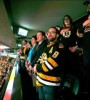Fans at the Bruins game Wednesday night sang an emotional version of the national anthem.