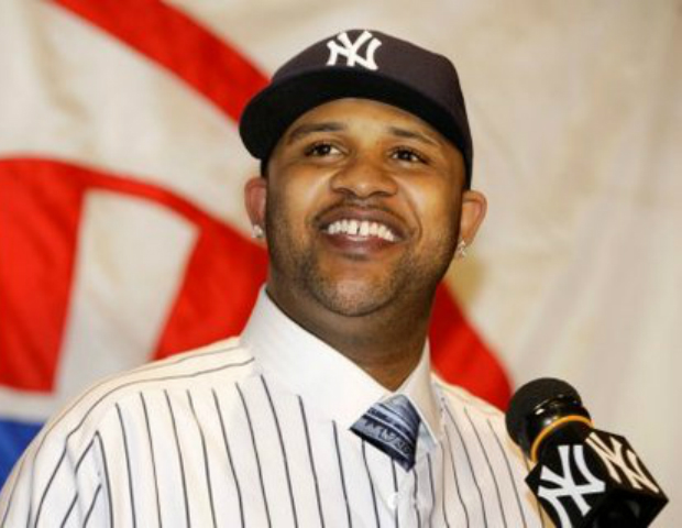cc sabathia smiling at ny yankee contract signing