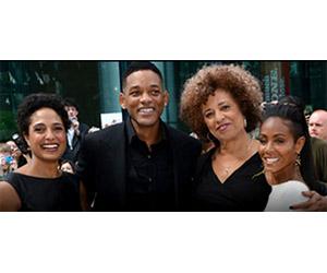 Shola Lynch, Will Smith, Angela Davis, and Jada Pinkett Smith at the Toronto International Film Festival