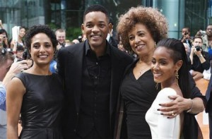 Shola Lynch, Will Smith, Angela Davis, and Jada Pinkett Smith