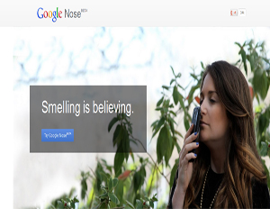 """Google """"announces"""" it's beta testing Nose, a new feature that allows users to smell their search results from their device (Image: Google)"""