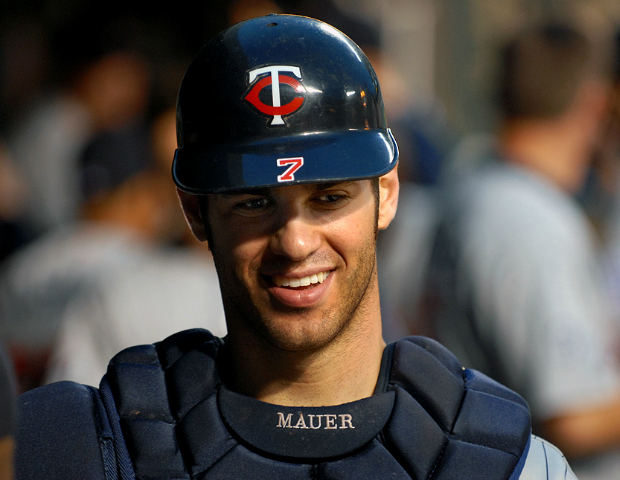 joe mauer smiling