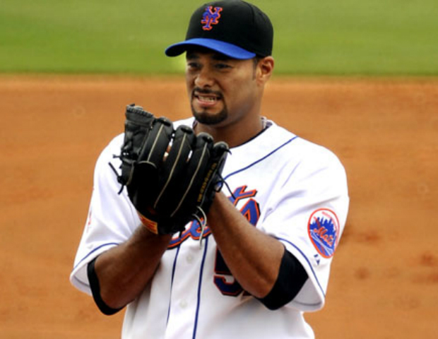 johan santana on mound for mets