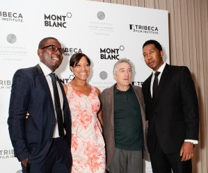 Kweku Mandela, Grace Hightower, Robert De Niro, and Ndaba Mandela at 'The Power of Words' screening. Photo: Sasithon Pooviriyakul