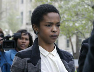(Reuters) Lauryn Hill outside of a Newark, N.J. federal courthouse.