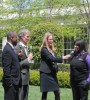 Chicago Tech Academy junior Shaquiesha Davis chatting with actor-turned-techie LeVar Burton and Bill Nye the Science Guy during the 3rd annual White House Science Fair on Monday, April 22 (Image: White House)