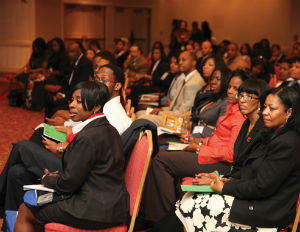 black conference goers