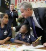 rahm emanuel with chicago school students