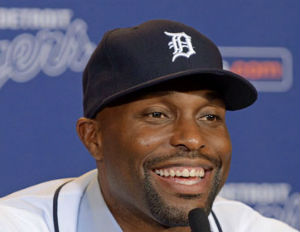torii hunter tigers smiling