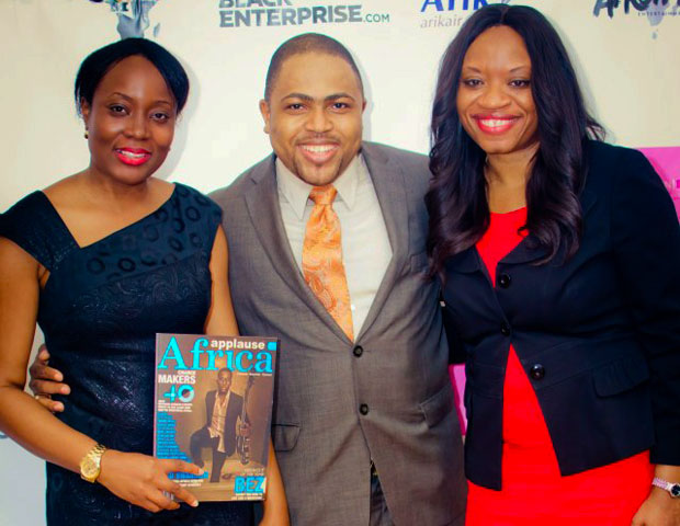 "Applause Africa's Michael Ikotun, center, also came out to support the ""Africans Creating Technology"" event."