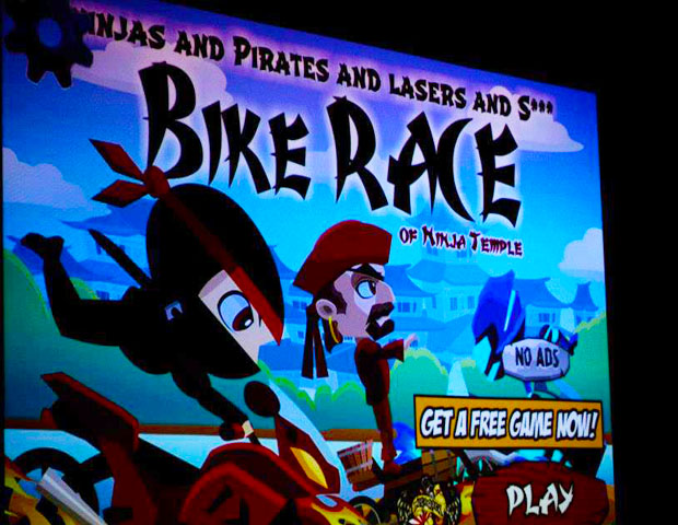Muoyo Okome's app, A Bike Race of Ninja Temple, has become popular on iTunes, with more than six-figure digits in downloads upon its creation just a few months ago.