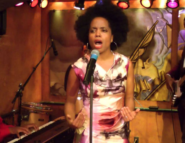 Rhonda Ross Kendrick on a movie set