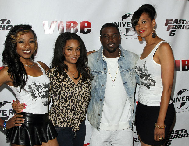 Film and television actor Lance Gross takes over the Regal Cinemas L.A. Live red carpet.