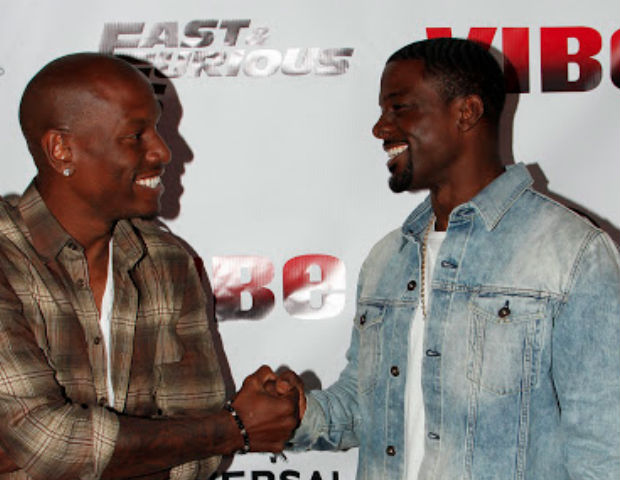 Tyrese Gibson and Lance Gross share the carpet spotlight before partying it up for the R&B singer's private movie screening.