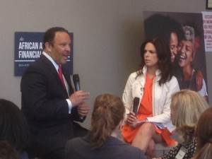 National Urban League CEO Marc Morial discuss the results of the latest African American Financial Experience Survey results with CNN's Soledad O'Brien (Image: Alfred Edmond Jr.)
